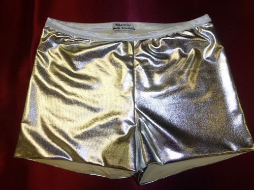Women's Vintage High Waisted Pin Up Hot Pants, silber